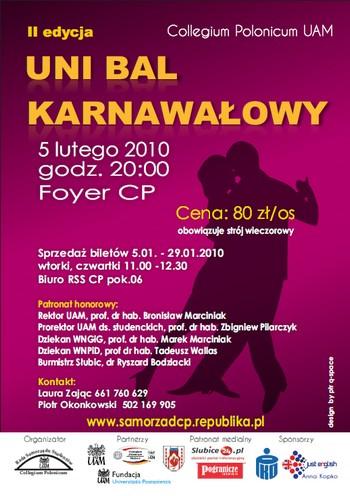 Uni Bal Karnawałowy w Collegium Polonicum