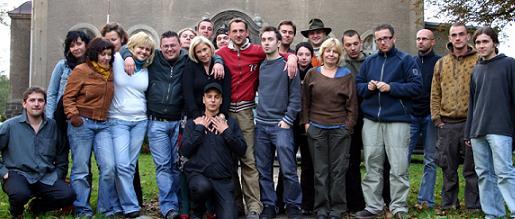 Ekipa filmowa na planie filmu