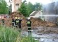Pożar magazynu w Słubicach
